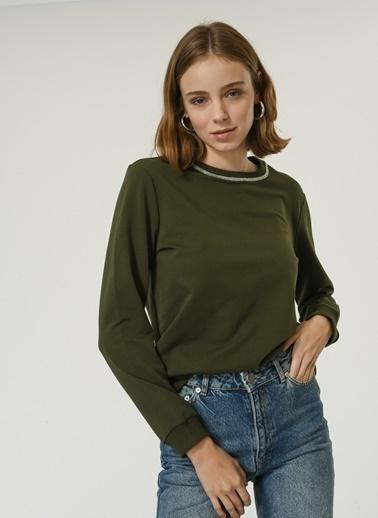 NGSTYLE Kadın Zincir Detaylı  Sweatshirt NGKAW20SW0011 Haki